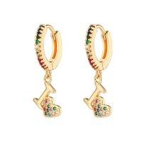 Pendientes Diseño Serpiente Piña Mariposa Pendientes Botón Arco Iris Clip Orija Gotas Orija Para Mujeres
