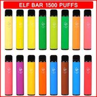 엘프 바 일회용 전자 담배 1500 퍼프 850mAh 배터리 4.8ml 미리 채워진 카트리지 vaporizoer 포드 전자 담배 ecigs 14 색