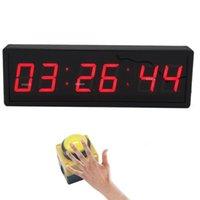 ساعات الحائط BTBSign LED LED العد التنازلي توقيت ساعة توقيت مع زر التبديل السلكي والطبع العقبات البعيدة سباقات اللياقة البدنية 2.3 بوصة حمراء