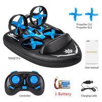 Upgraded H36 JJRC H36F Terzetto 1 20 2.4G 3 In 1 RC Vehicle Flying Drone Land Driving Boat Quadcopter Model Toys
