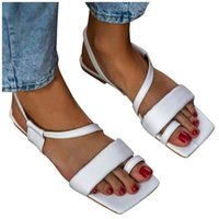 Sandals Summer Fashion Chain Design Slip On Square Toe Slides Women Mules Pumps Ladies Large Size Slim Strap Flat