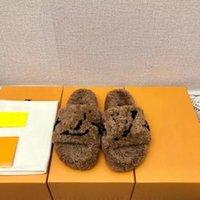 2021 Donne sandali estivi Pantofole Slittamento Diapositiva BOM Dia Flat Mule 1A3R5M Cool Slides Elegante senza sforzo 2 cinghie con fibbie dorate regolate SANDA