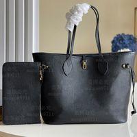 Женщина хозяйственная сумка Высококачественная кожаный кошелек Tote мода плечо синяя подкладка серийный номер дата код 32см / мм / мм