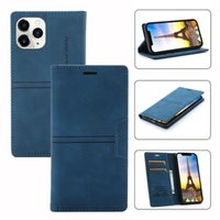 Magnetic Wallet Leather Cases for iphone 11 12 13 pro max mini 6 7G 8G XS XR Credit Card Slot stand cover case