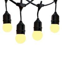 Corde Thrisdar 15m 15LLED E27 Globe Bulbs String String Light Grado Commerciale Bistry Bistro Cafe Wedding Hanging Ghirlanda