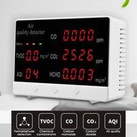 متعددة الوظائف الرقمية co2 hcho tvoc كاشف الغاز عالية الدقة جودة الهواء مراقب الغاز محلل كاشف جودة الهواء
