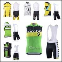 Scott equipo ciclismo sin mangas jersey chaleco babero shorts sts sport bicicleta desgaste al aire libre carretera ropa de bicicleta