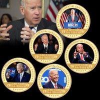 2021 الرئيس بايدن عملة تذكارية بايدن الذهب التذكارية عملة معدنية شارة الرئيس الأمريكي جو بايدن تذكارية عملة عملة BH4553 TQQ