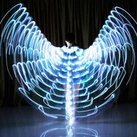 Adult Of Isis Dance Light Led Butterfly Wings Glowing Costume Kids 360 Angel Sticks Accessories