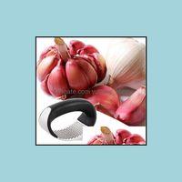 Kitchen, Dining Bar Home & Gardenstainless Steel Presses Manual Mincer Chop Garlic Curve Fruit Vegetable Tools Kitchen Gadgets Drop Delivery