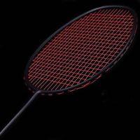 Raquette de badmintons de fibre de carbone professionnel de raquette de raquette de raquette de badminton unique avec sac de transport