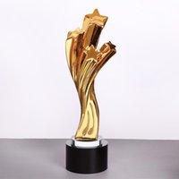 الكائنات الزخرفية التماثيل مخصصة راتنج الكأس الذهب نجوم جائزة كأس بجائزة كأس مع الكلمات
