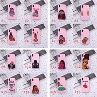Fashion Designer Black Girl Phone Custodia per iPhone 7 8 Plus X XR XS 11 12 Pom Max Melanin Poppin ABA Painted Soft TPU Cover
