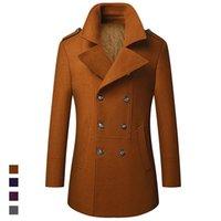 Мужская траншея пальто Кимсера мужчина мода шерстяные смеси зима теплая ветровка хлопчатобумажные толстые тепловое пальто удивительные куртки верхняя одежда