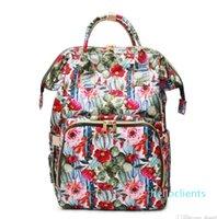 선인장 꽃 어깨 가방 도매 공백 대용량 선인장 기저귀 배낭 꽃 미라 베이비 케어 기저귀 가방