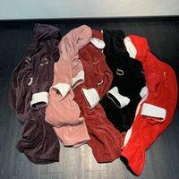 5 kolory aksamitne szaty mody listu projektant unisex nightwear barok z kapturem miękkie dotknięcia mężczyzn kobiet szlafrok