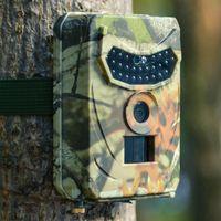 사냥 카메라 사진 트랩 12MP 야생 동물 트레일 야간 투시경 HD 열 화상화 비디오 카메라 가정 보안