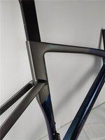 Alta qualidade Carbon Road Bike Frame Disco Fiação Interna Frences Lustroso Revestimento Matte Contém guiador + Caule + fone de ouvido + braçadeira