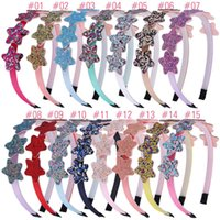 Star Hairband Rainbow Color Kid Party Glitter Heart Headband For Children Girls Hair Accessories