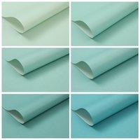 Обои Tiffany Blue Glossy Wallpaper Обычные цвета Спальня Гостиная и Эль Ресторан Простое Зеркало Зеленое