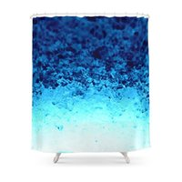 Shower Curtains Blue Crystal Ombre Curtain Frabic Waterproof Polyester Bathroom Wall Decoration Hanging Bath
