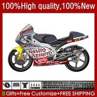 Kit de corpo para Aprilia RS-250 RSV250 RS RS250 RS250R Cinza Branco 95 96 97 24no.39 RSV250R RSV250RR 1995 1996 1997 RSV-250 RS250RR 95-97 Fairing da motocicleta