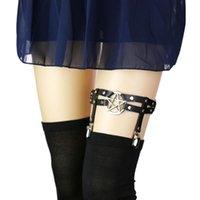 Anklets PHYANIC Cosplay Rock Pub Girl Sexy Studded Star Leather Garter Rivet Punk Goth Harajuku Handmade Belt Leg Chain Wholesale