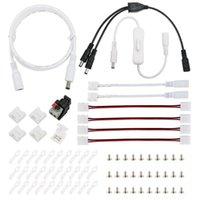 Şeritler 15 çeşit 2Pin Tek Renkli LED Şerit Bağlantı 8mm 10mm JST SM Su Geçirmez L T X DC Uzatma Kablosu