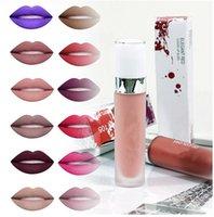 في المخزون وصول soc السائل أحمر الشفاه ماء الشفاه لمعان مختلف الألوان ماتي lipgloss مختلطة