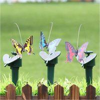 Kunststoff Solarbetrieben Flying Butterfly Vogel Sonnenblume Garten Dekorationen Beteiligung Ornament Dekor Schmetterlinge Kolibri Garten Dekoration Lustige Spielzeug WL668