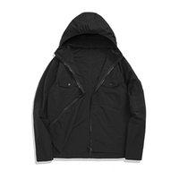 남성 자켓 봄 가을 얇은 톱 스니트 후드 Konng Gonng 고급 버전 브랜드 트렌치 코트 방풍 방수 M-2XL