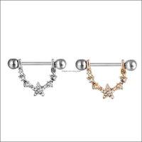 Göbek Çan Düğmesi Yüzükler JewelryD0946 (3 Renkler) Güzel Stil Meme Yüzük 20 ADET Sier Renk Taş Piercing Vücut Takı Bırak Teslimat 2021