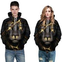 Hoodies graphiques 3D Mens Sweats à Sweats à capuche de lion de mode Unisexe Couple Outfit Classic HiPhop Impression SweatShirt Boys Streetwear