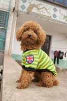 Dog Apparel Pet Striped Shirt Summer Cotton Vest For Dogs Cute Clothing Small Clothes F05