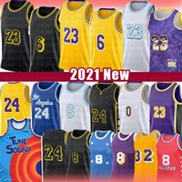 Mens Youth Kids Los 23 6 Angeles 24 8 Basketball Jersey Anthony 3 Davis Kyle 0 Kuzma 34 알렉스 4 블랙 Caruso Mamba 영화 공간 잼 튜닝 스쿼드 2021 New