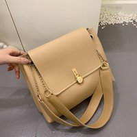 Shoulder Bags Texture All-match Big Bag Women 2021 Trendy Fashion Ladies Western Style Net Red Chain Tote