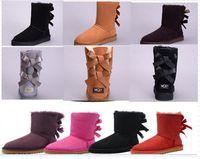 Novas mulheres botas de neve moda inverno bota clássico mini tornozelo senhoras curtas meninas meninas montas triplas pretas castanha marinha azul botinhas borla ew