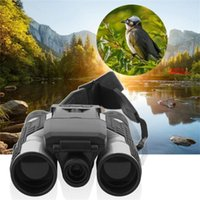 "Telescope & Binoculars 12x32 HD Black Folding With Built-in Full 1080P Digital Camera 2.0"" LCD For Hunting Camping Travel"
