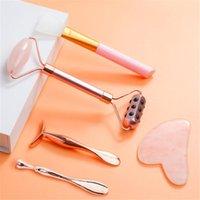 3 em 1 Germânio Jade Beauty Massager Facial Roller Gua Sha Massage Massage Set Face Off Body Massager