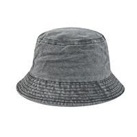 Wide Brim Hats 2021 Foldable Fisherman Hat Washed Denim Bucket Unisex Fashion Bob Caps Hip Hop Gorros Men Women Panama