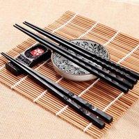 Único 1 par de aleación Palillos japoneses Japoneses Sushi Palitos Palillos Reutilizables Cocina Cocina Casa Regalo Vajilla