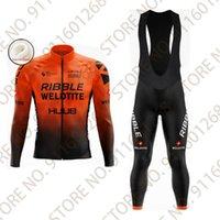 레이싱 세트 2021 Huub Ribble Weldtite Jersey 20D 사이클링웨어 Ropa Ciclismo Mens 겨울 열 양털 프로 자전거 타는 의류 Maillot Culotte