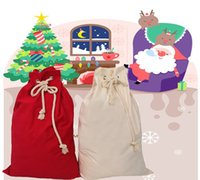 Personalized Christmas Santa Bag Drawstring Candy Gift Pouches Eco-friendly Portable Storage Bags Xmas Eve Apple Package Sacks