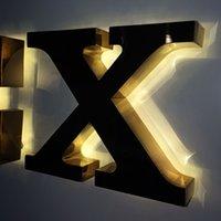 Branding-Logo Werbung Signage Beleuchtung-up-Kanal-Buchstabe Metall Sus Alumnium Backlit LED Logo Alphabet Zeichenbuchstaben