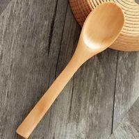 13cm mini colher de bambu de madeira linda colher de tempero colheres de sorvete de madeira flatware 100 pcs / lote 205 s2