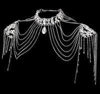 Cadena de hombro nupcial 2021 Colgantes de boda Vestido de rendimiento de cristal Princess Accesorios Collares 030902