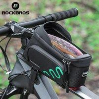 Rockbros Bicycle Frame Bag Gycling Touch Screen Borse Touch Screen Tube anteriore MTB Bike Bike Case Bike Accessori Accessori