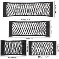 収納ボックスビンズカーバックリアトランクシート弾性弦ネットマジックステッカーメッシュバッグポケットケージ自動オーガナイザー