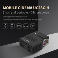 Güncellenmiş UC28C Mini Taşınabilir Projektör Kablolu Aynı Ekran 1080 P Ev Sineması Eğlence Medya Oynatıcı Oyunu Beamer Film Cihazı Projektör