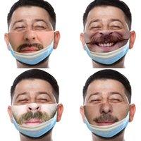 S'il vous plaît apporter votre masque 2021 Masque de visage amusant européen et américain 3D Masque de vie quotidien anti-poussière résistant à la poussière